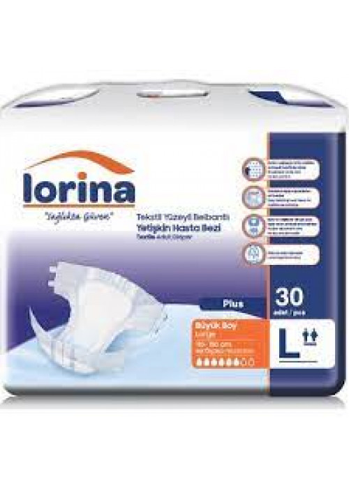 Lorina Yetişkin Hasta Bezi Large 30 Adet