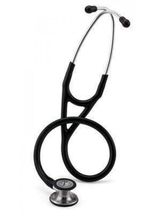 3M Littmann Kardiyoloji IV Stetoskop 6151, Standart Yüzey Dinleme Çanı, Paslanmaz Kök ve Kulaklık, 22 inç, Siyah Hortum